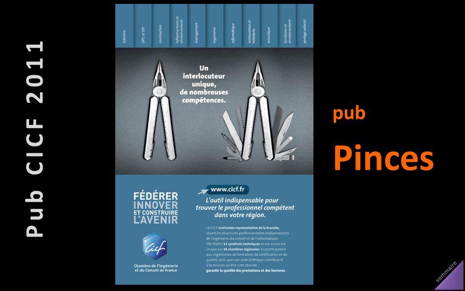 sommaire Pub CICF 2011 pub Pinces