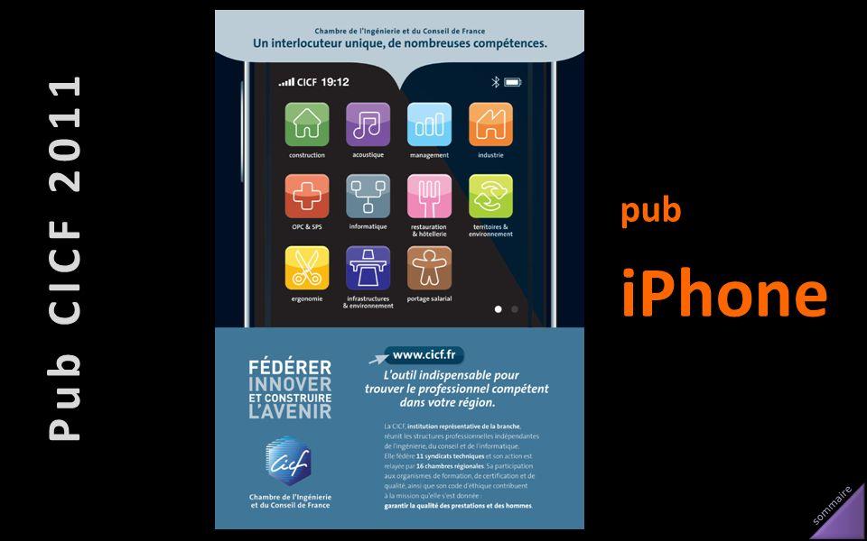 sommaire Pub CICF 2011 pub iPhone