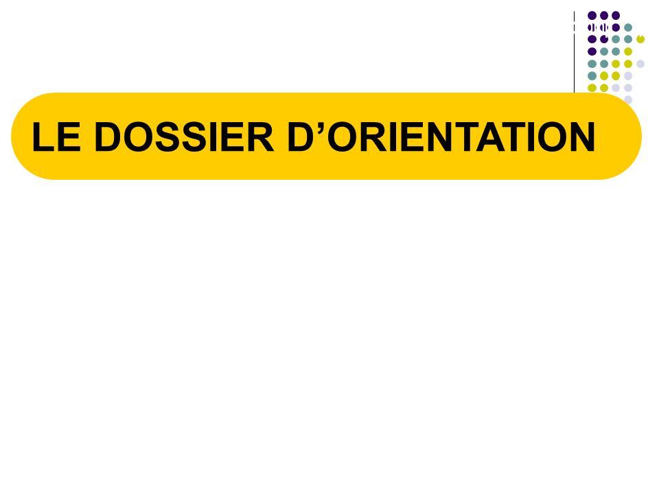 LE DOSSIER DORIENTATION 1/1