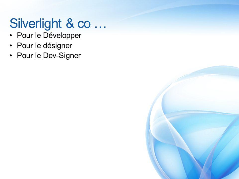 Silverlight & co … Pour le Développer Pour le désigner Pour le Dev-Signer