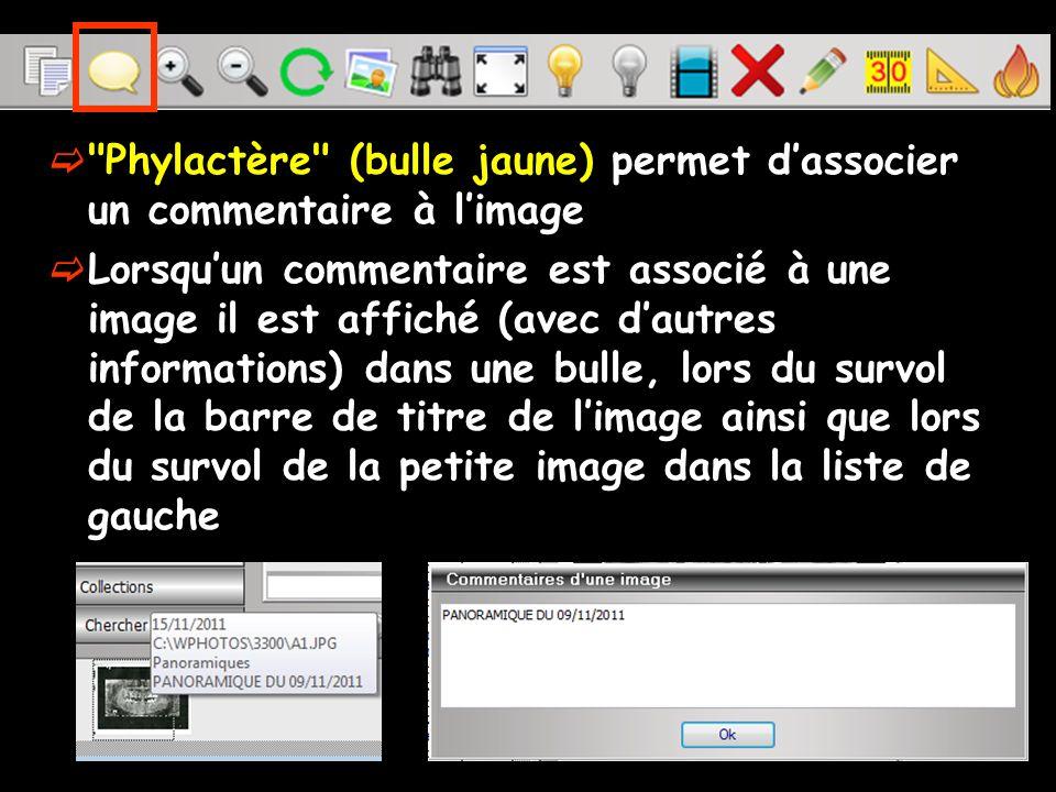 Ces commentaires peuvent être imprimés Sélection dune image Onglet Imprimer clic Ouverture dune fenêtre permettant de régler les paramètres d impression