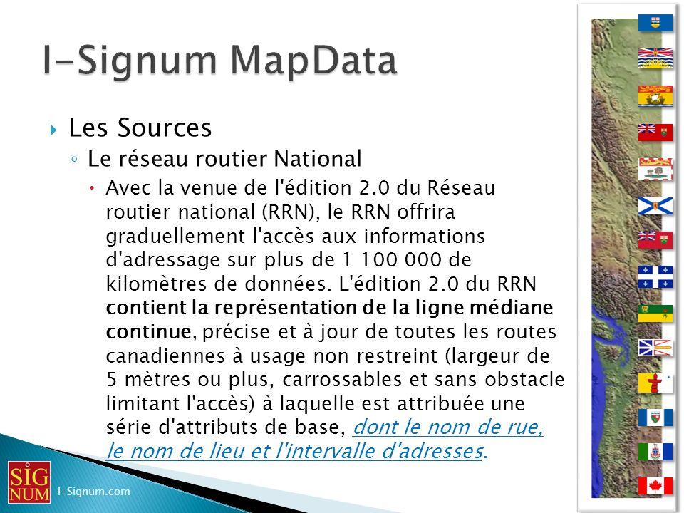 Les Sources Le réseau routier National Avec la venue de l'édition 2.0 du Réseau routier national (RRN), le RRN offrira graduellement l'accès aux infor