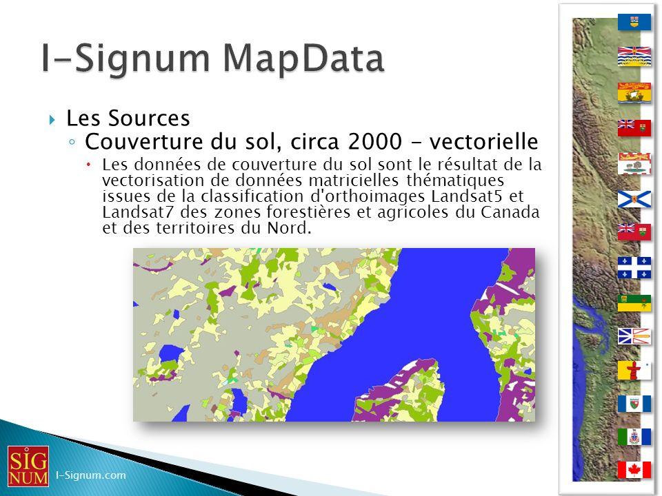Les Sources Couverture du sol, circa 2000 - vectorielle Les données de couverture du sol sont le résultat de la vectorisation de données matricielles