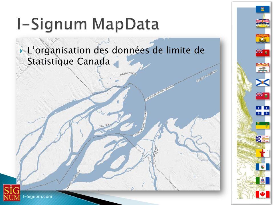 Lorganisation des données de limite de Statistique Canada Lorganisation des données de limite de Statistique Canada I-Signum.com