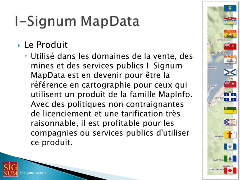 Le Produit Utilisé dans les domaines de la vente, des mines et des services publics I-Signum MapData est en devenir pour être la référence en cartogra