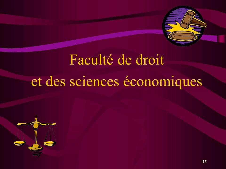 15 Faculté de droit et des sciences économiques