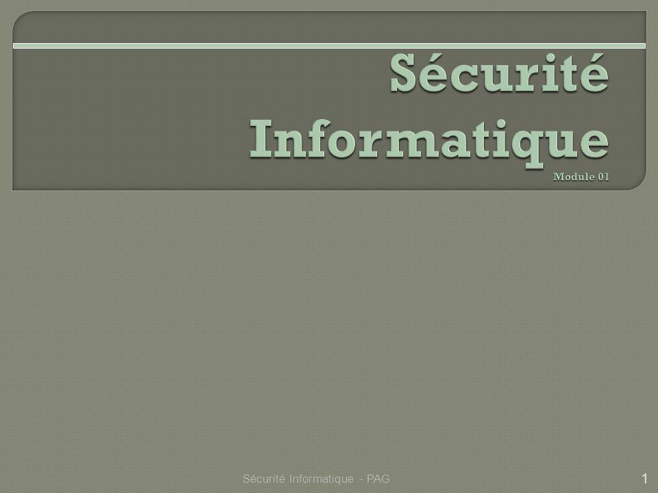 1 Sécurité Informatique - PAG