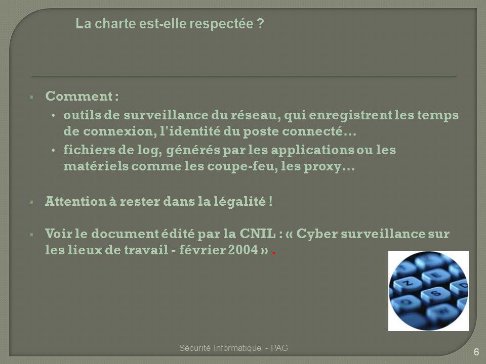 7 Sécurité Informatique - PAG Outils ou Cyber surveillance .
