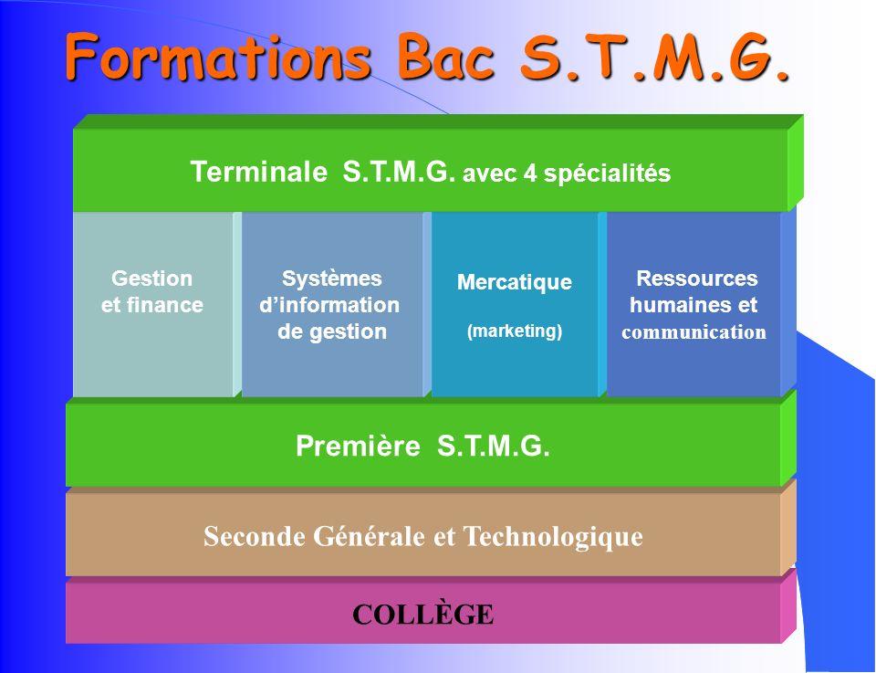 Un lycée du 3 ème millénaire Lycée Technologique privé sous contrat avec létat B.T.S. Comptabilité Gestion des Organisations Collège Seconde 1 an STMG