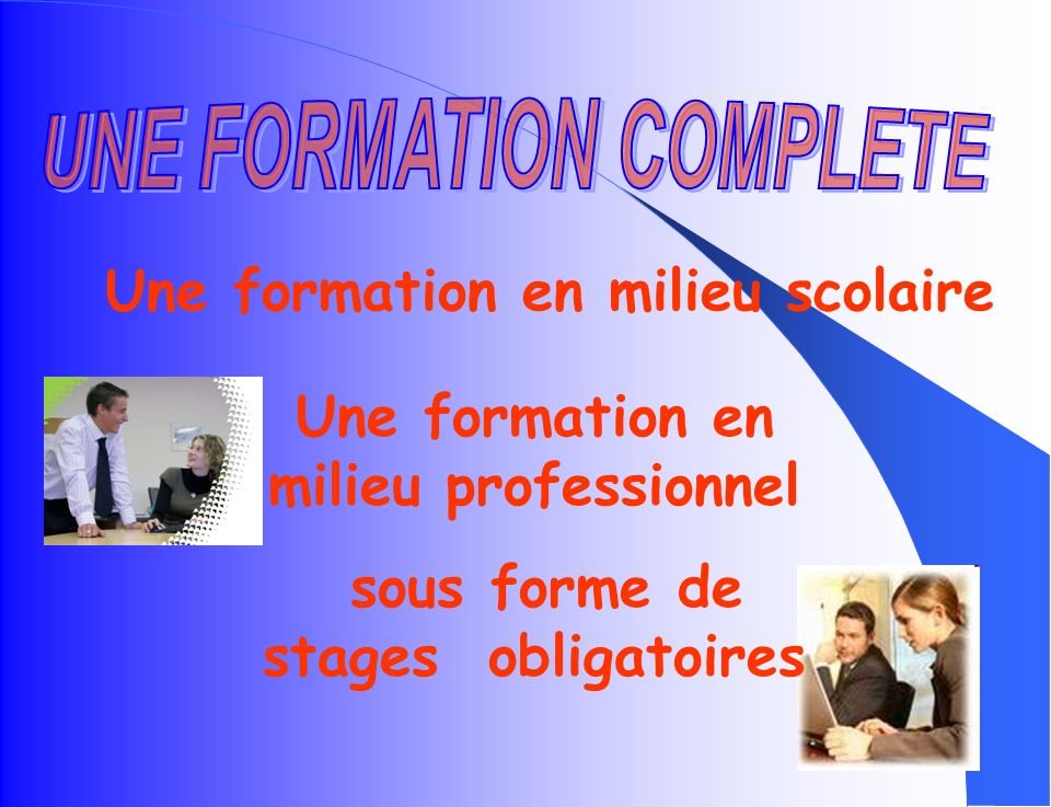 Formations Bac Pro Gestion Administration COLLÈGE 2 de Bac Pro Gestion Administration 1 ère Bac Pro Gestion Administration Terminale Bac Pro Gestion A
