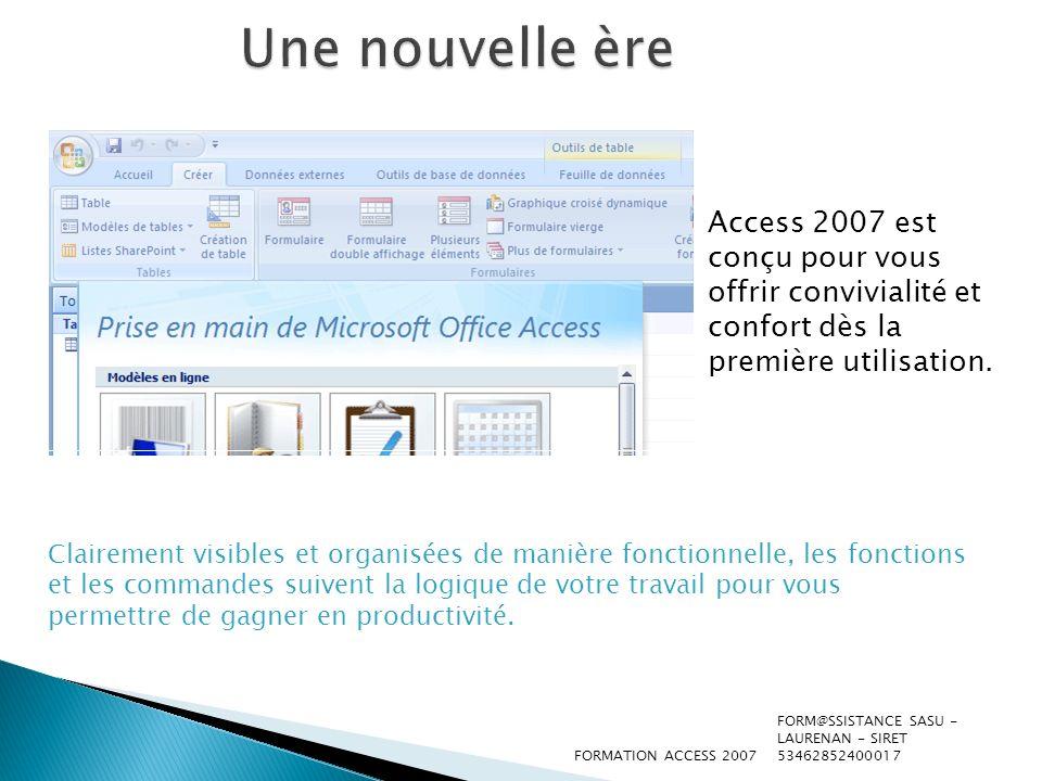 Commencer avec un modèle Lorsque vous démarrez Access 2007, la nouvelle page Prise en main de Microsoft Office Access s affiche.