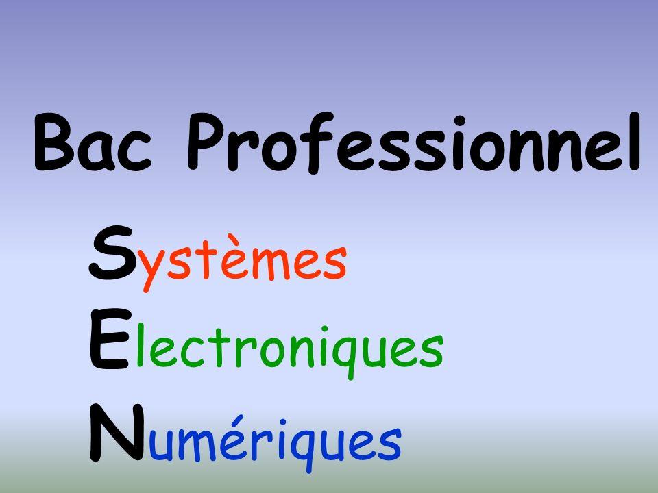 Bac Professionnel S ystèmes E lectroniques N umériques