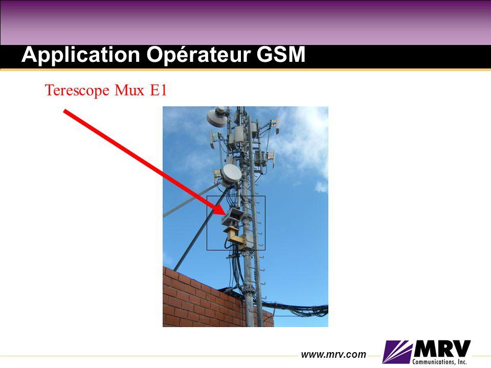 www.mrv.com Application Opérateur GSM Terescope Mux E1