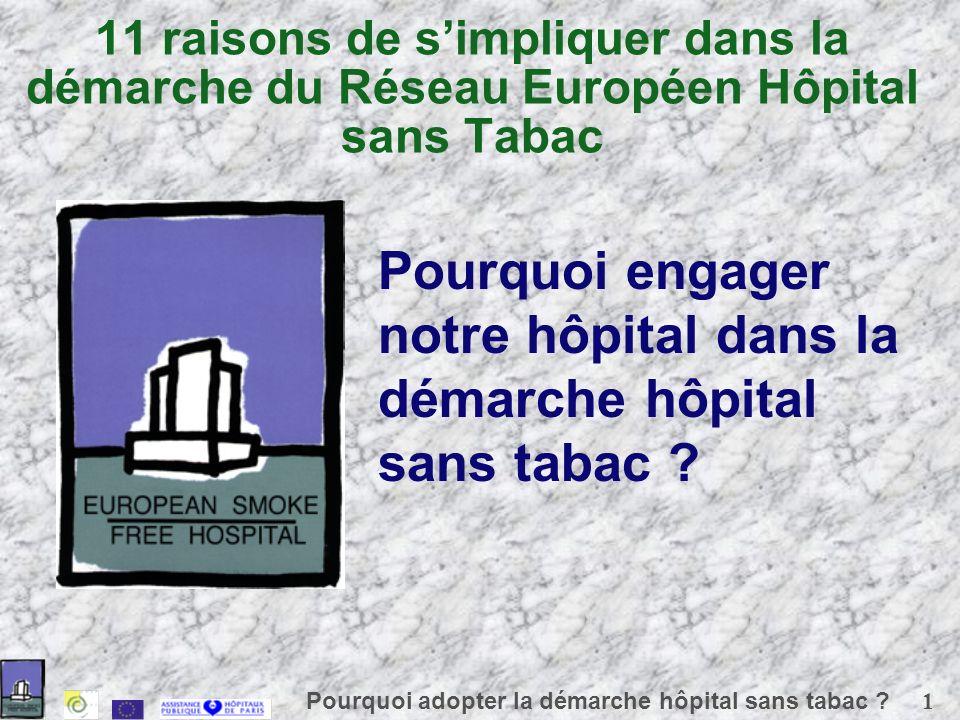 1 Pourquoi adopter la démarche hôpital sans tabac .