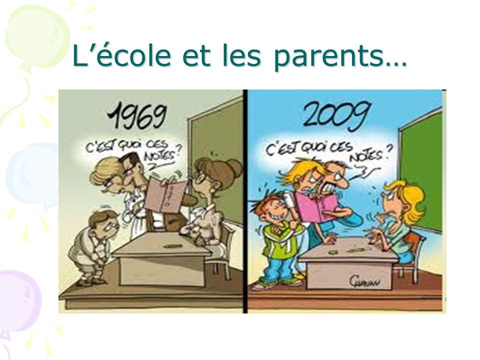 Lécole et les parents…