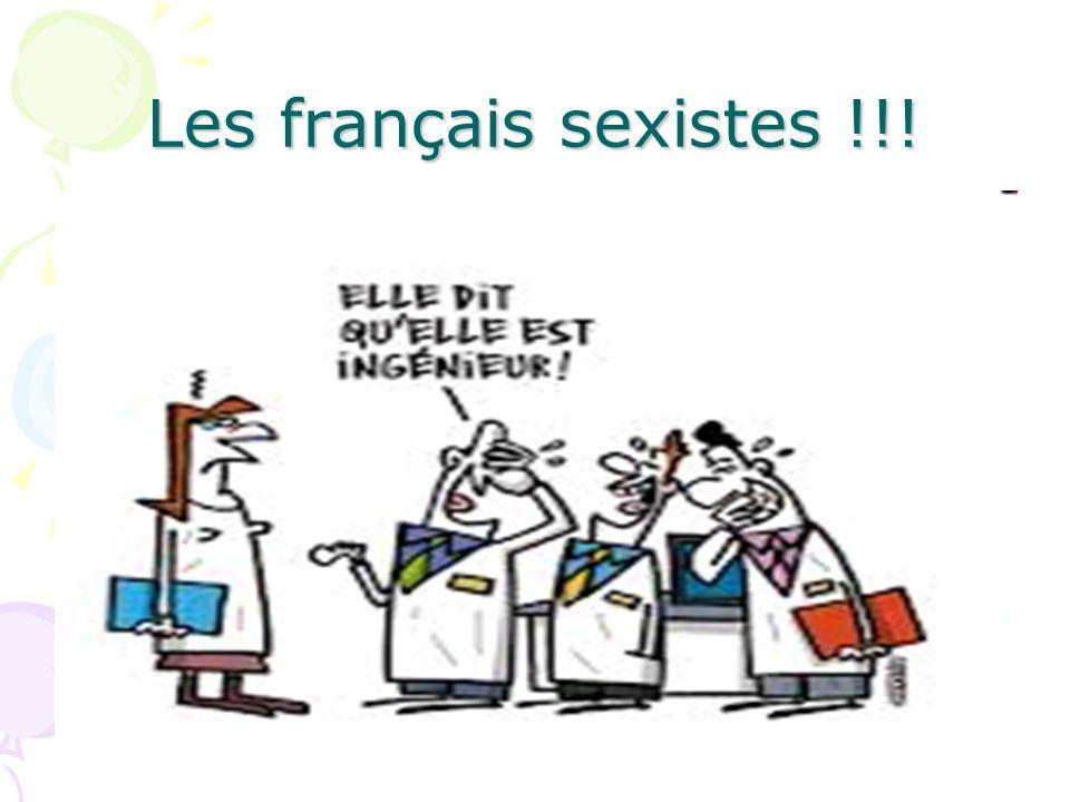 Les français sexistes !!!