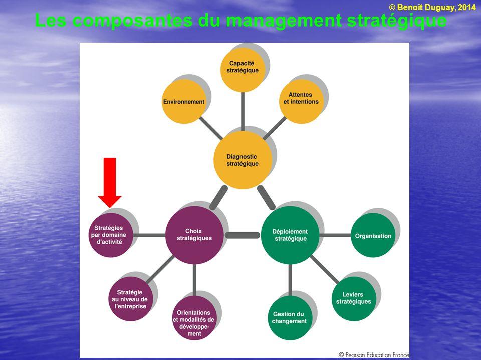 © Benoit Duguay, 2014 Introduction Non Découper lorganisation en DAS Choisir stratégie en fonction de chaque DAS Différente approches Développer et maintenir un avantage