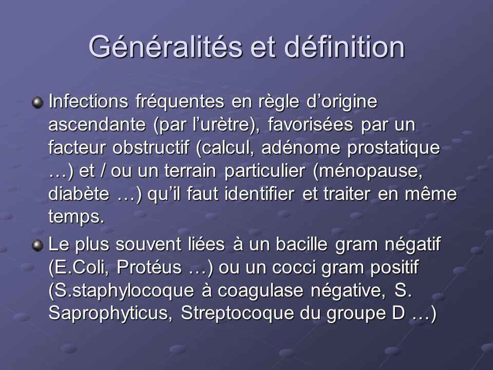 Généralités et définition Certains agents infectieux fréquents de lurètre nécessite des techniques didentification spéciales (chlamydia trachomatis, ureaplasma urealyticum, gardnerella vaginalis).
