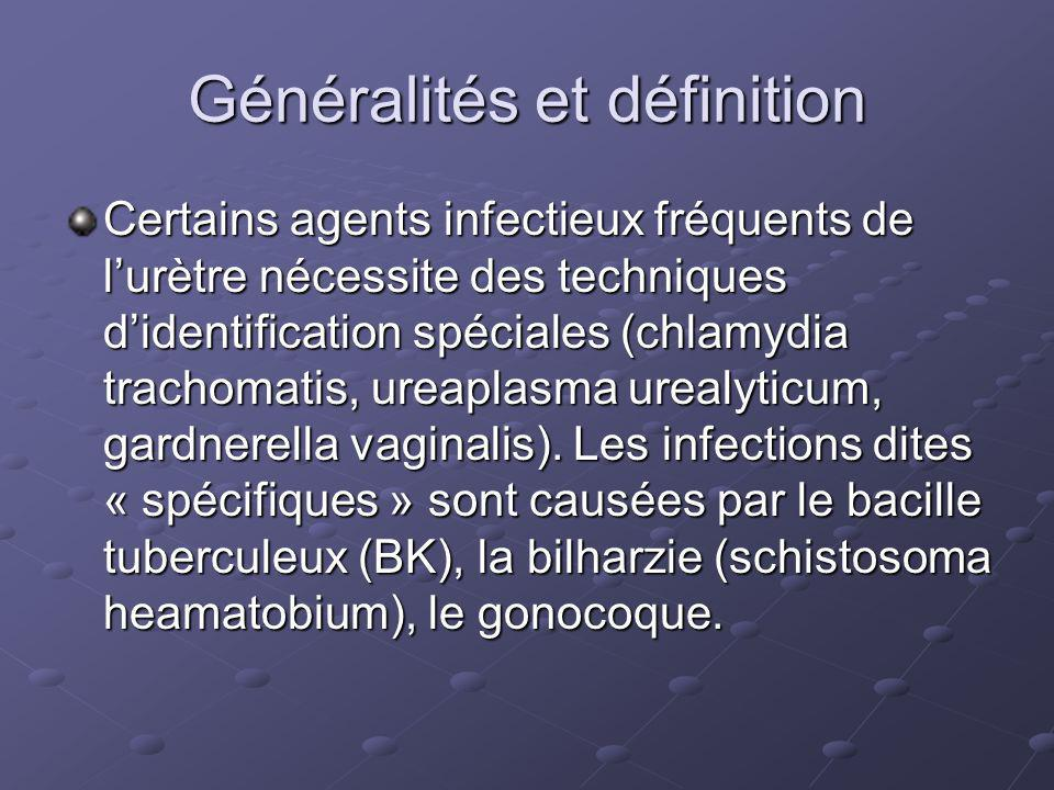 Diagnostic Bandelettes réactives en urgence 1.Présence de leucocytes et de nitrites 2.Très utiles pour éliminer une infection ECBU (si bandelette +, et tableau clinique évocateur) : la présence dune bactériurie monomicrobienne avec un nombre de colonies > à 100 000/ml, associée à une leucocyturie >10 000/ml ou une pyurie, permet daffirmer linfection urinaire La leucocyturie sans germe évoque classiquement la tuberculose, mais elle est en pratique souvent liée à dautres causes.