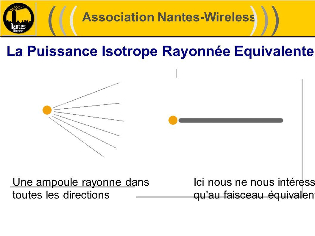 Association Nantes-Wireless (((((()))))) La Puissance Isotrope Rayonnée Equivalente Une ampoule rayonne dansIci nous ne nous intéressons toutes les di