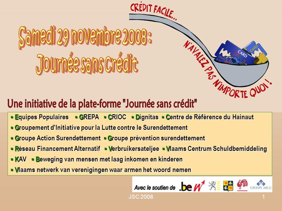JSC 20081 Equipes Populaires GREPA CRIOC Dignitas Centre de Référence du Hainaut Equipes Populaires GREPA CRIOC Dignitas Centre de Référence du Hainau