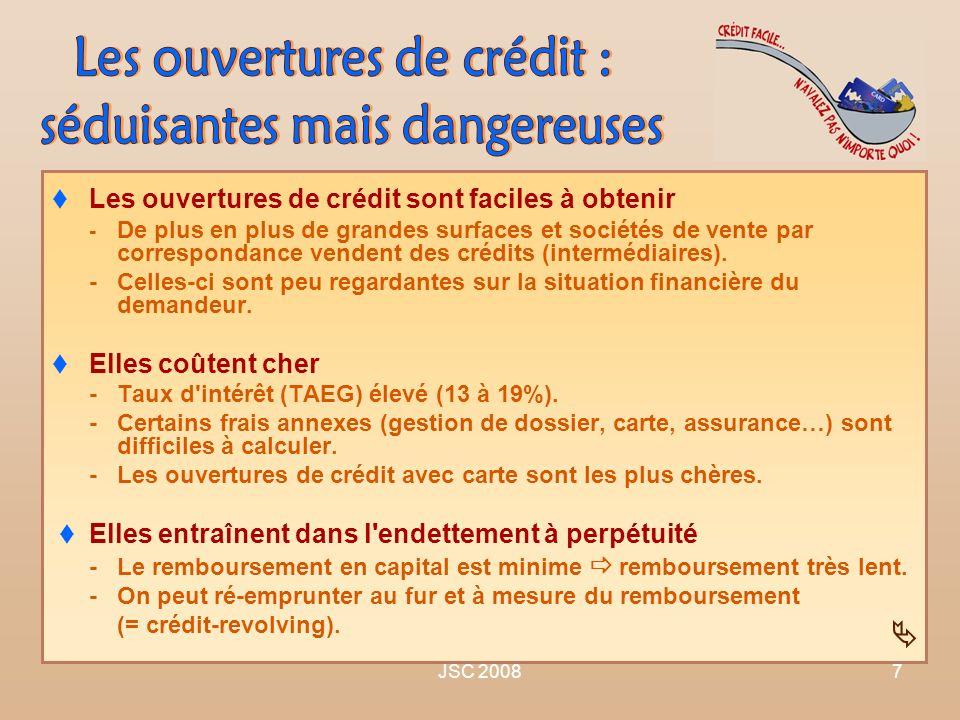JSC 20087 Les ouvertures de crédit sont faciles à obtenir - De plus en plus de grandes surfaces et sociétés de vente par correspondance vendent des cr
