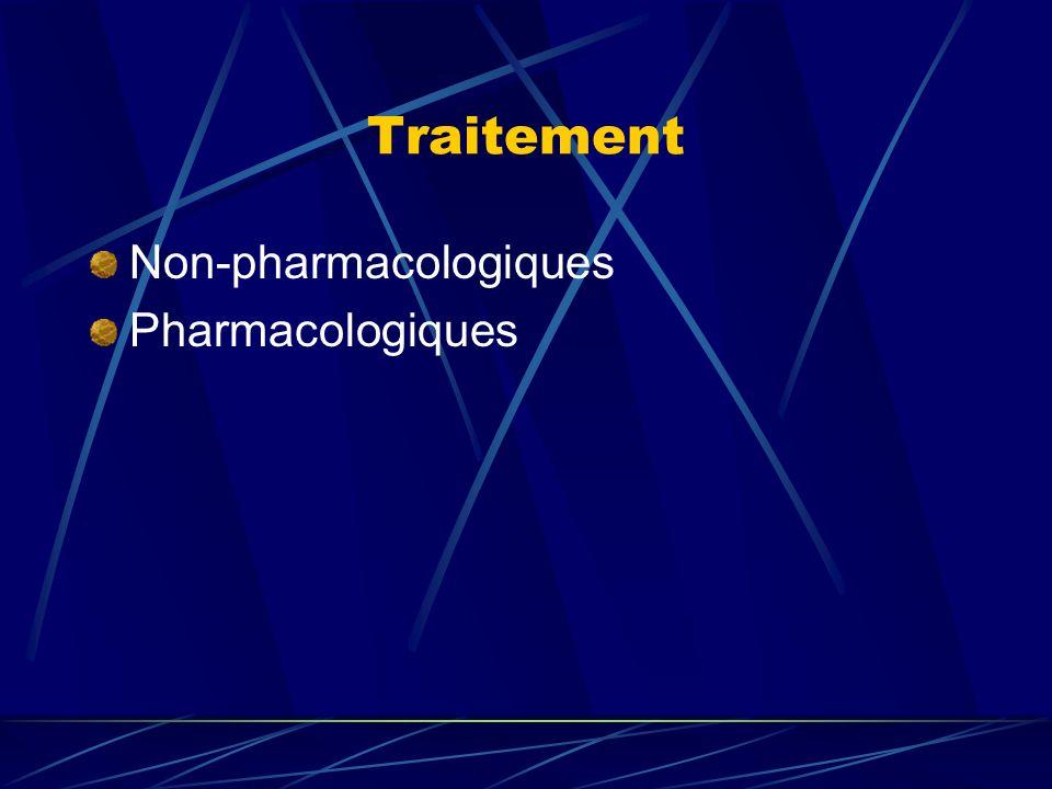 Traitement Non-pharmacologiques Pharmacologiques