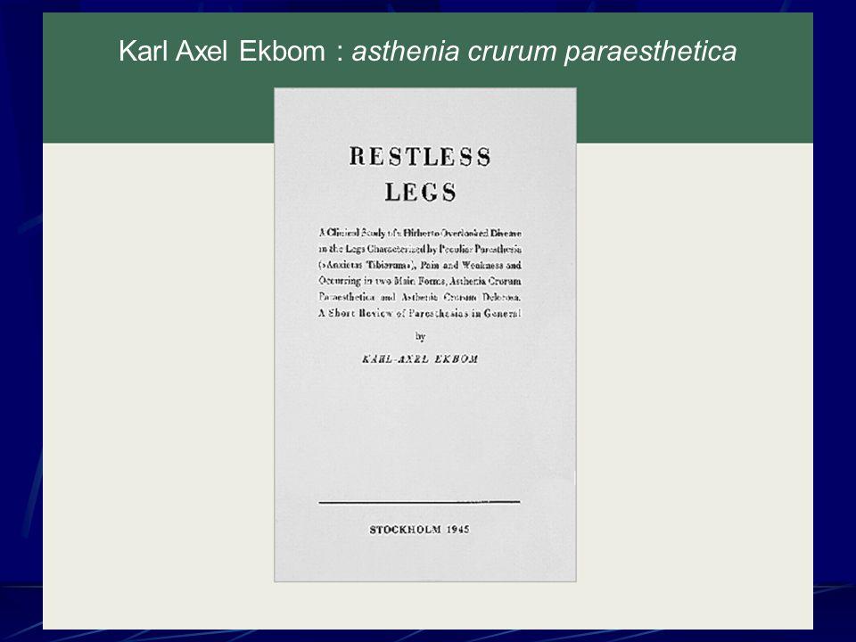 Critères CITS A.Sensation désagréable au niveau des jambes la nuit B.