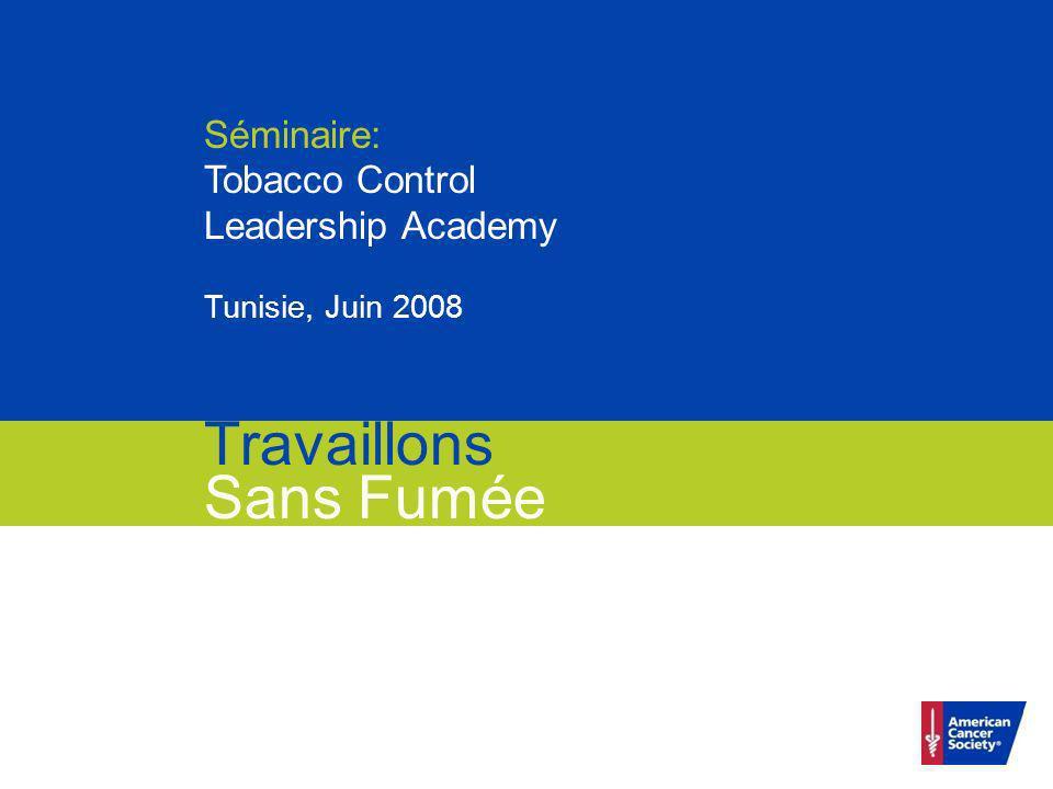 Travaillons Sans Fumée Séminaire: Tobacco Control Leadership Academy Tunisie, Juin 2008 Travaillons Sans Fumée