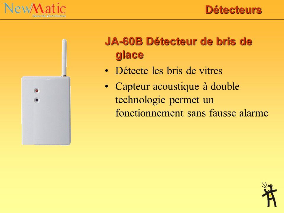 JA-60N Contact de porte Détecte porte ou fenêtre ouverte Permet la connexion de détecteurs externes (par exemple contacts ou de détecteurs filaires) I