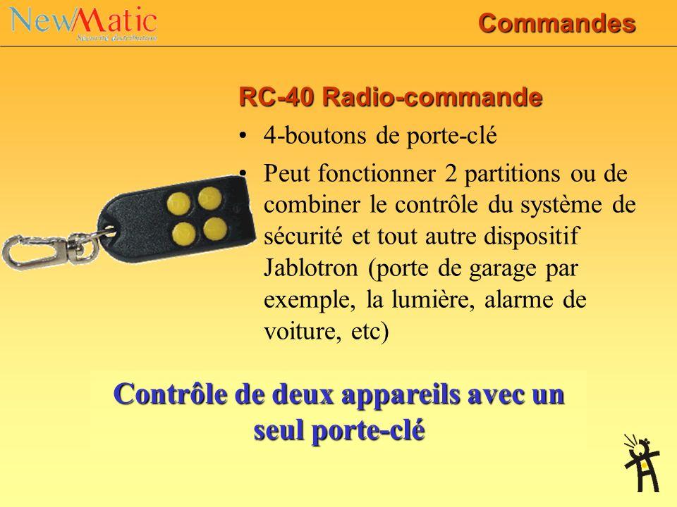 JA-63KRG PROFI JA-60F Clavier sans fil La communication bidirectionnelle permet une substitution totale de claviers classiques 14 codes d'utilisateur