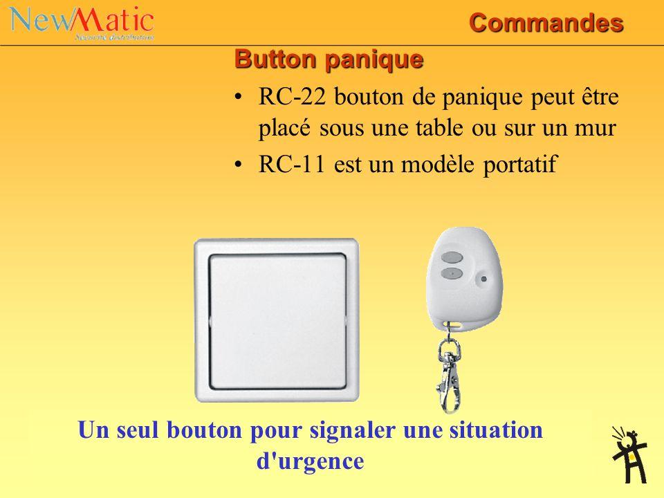 RC-40 Radio-commande 4-boutons de porte-clé Peut fonctionner 2 partitions ou de combiner le contrôle du système de sécurité et tout autre dispositif J