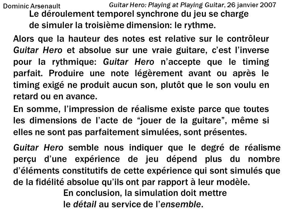 Le déroulement temporel synchrone du jeu se charge de simuler la troisième dimension: le rythme. Alors que la hauteur des notes est relative sur le co