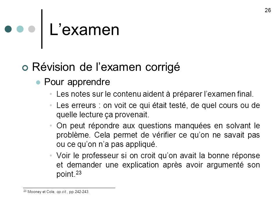Lexamen Révision de lexamen corrigé Pour apprendre Les notes sur le contenu aident à préparer lexamen final.