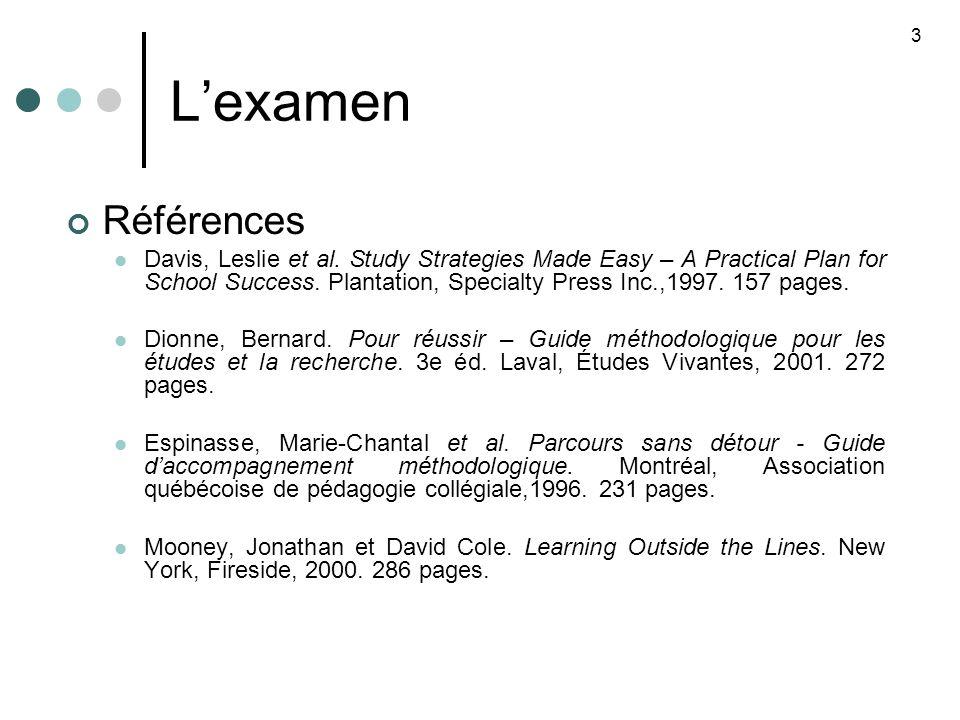 Lexamen Références Davis, Leslie et al.