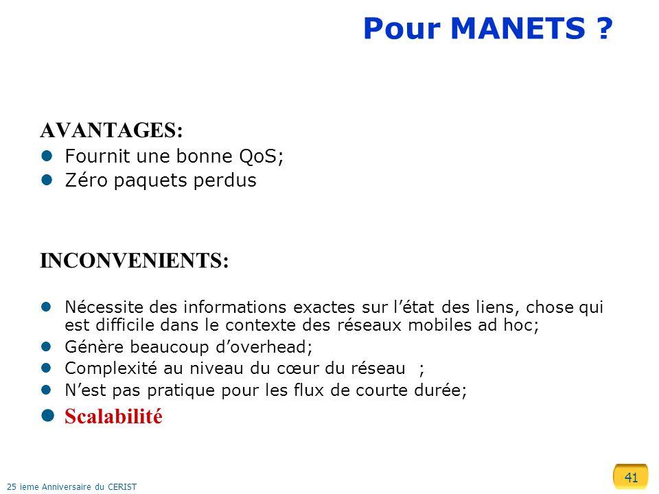 41 25 ieme Anniversaire du CERIST Pour MANETS .