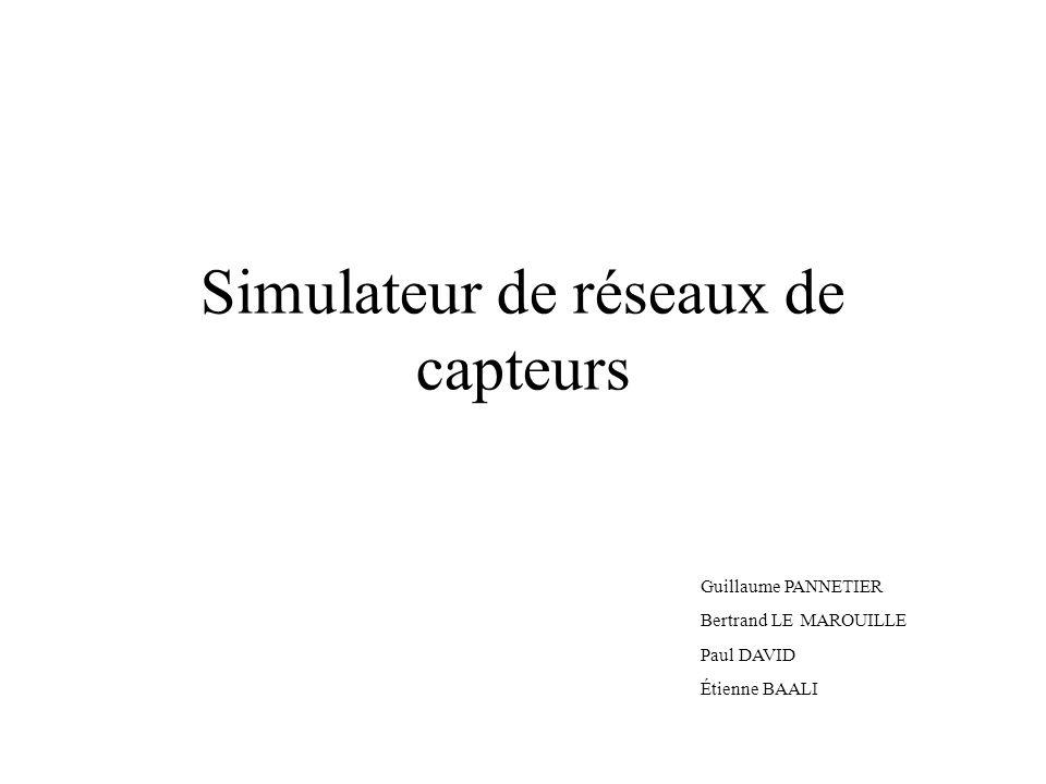 Simulateur de réseaux de capteurs Guillaume PANNETIER Bertrand LE MAROUILLE Paul DAVID Étienne BAALI