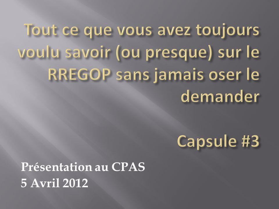 Présentation au CPAS 5 Avril 2012