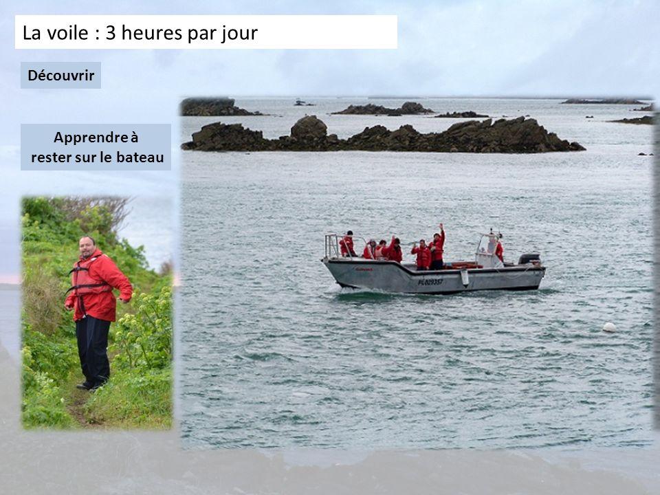 La voile : 3 heures par jour Découvrir Apprendre à rester sur le bateau