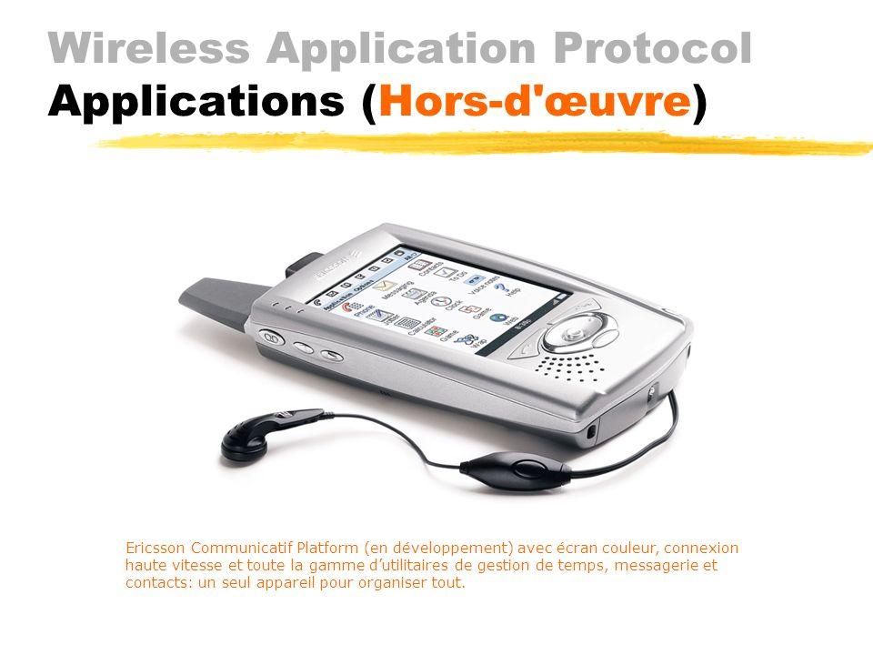 Wireless Application Protocol Applications (Téléphonie) JAgent WTA Jtéléphonie sécurisée Jport spécial sur la passerelle Jarchive des exécutables JWTA