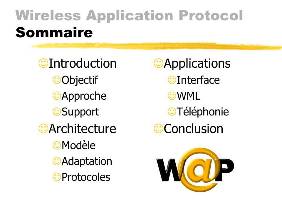 Wireless Application Protocol Yasmine Ajana et Alexi Popov Université de Montréal, Montréal, Canada H3C 3J7 {ajanay, popovale}@iro.umontreal.ca Ericss