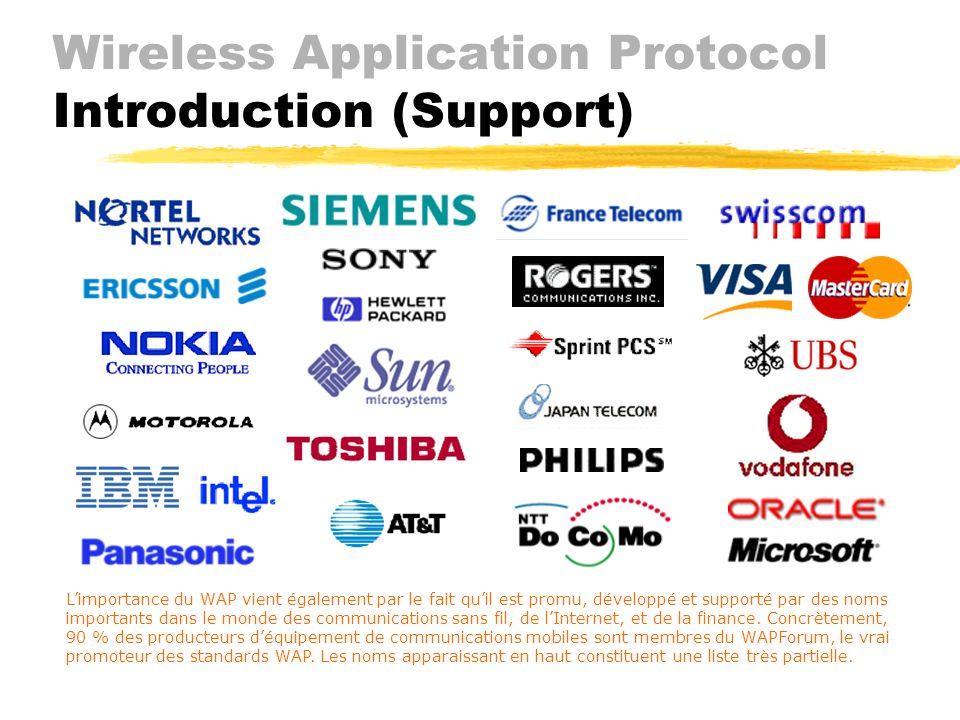 Wireless Application Protocol Introduction ( Approche) JLimites des appareils Jfaible processeur Jmémoire, énergie et écran limités Jentrée (input) ra