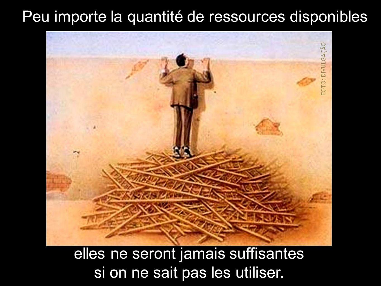 Peu importe la quantité de ressources disponibles elles ne seront jamais suffisantes si on ne sait pas les utiliser.