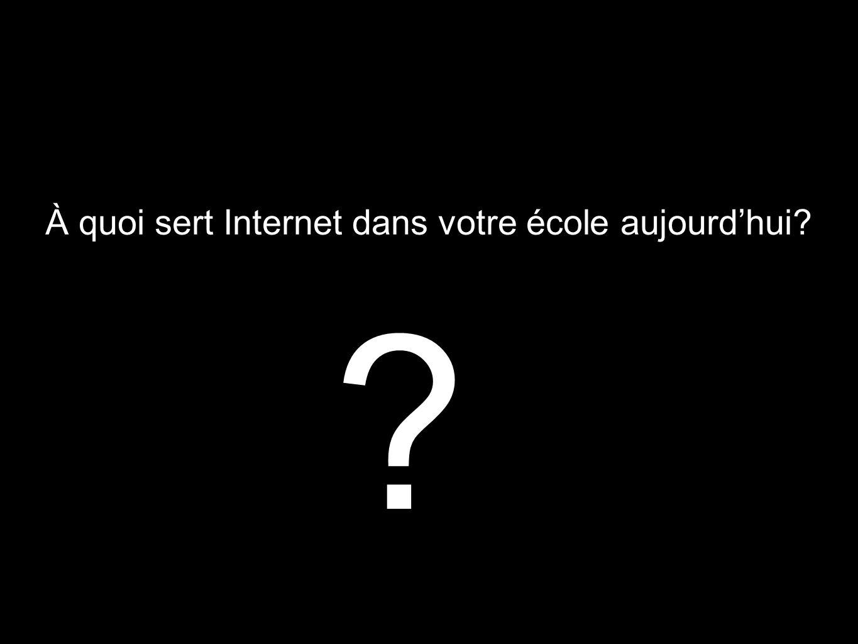 À quoi sert Internet dans votre école aujourdhui? ?