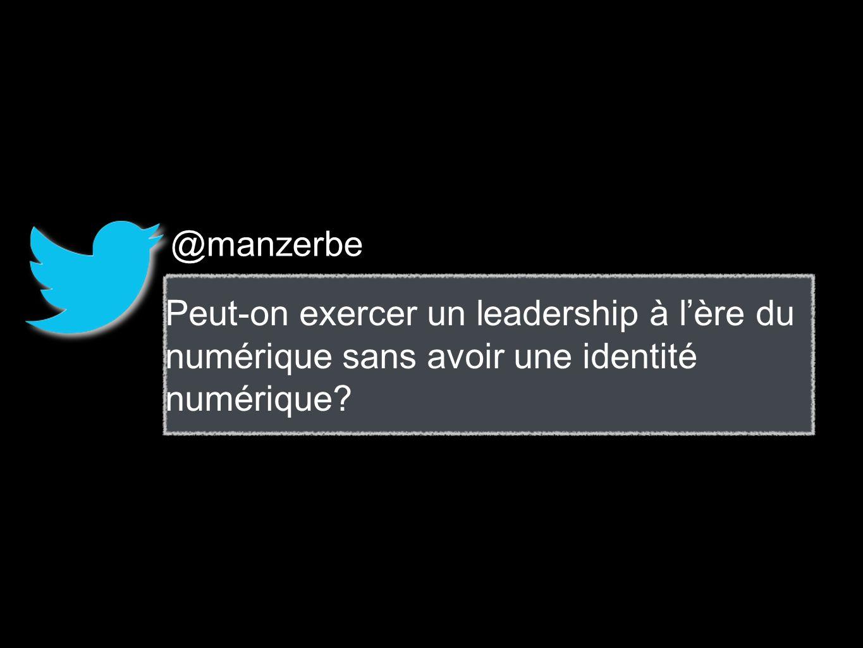 @manzerbe Peut-on exercer un leadership à lère du numérique sans avoir une identité numérique?