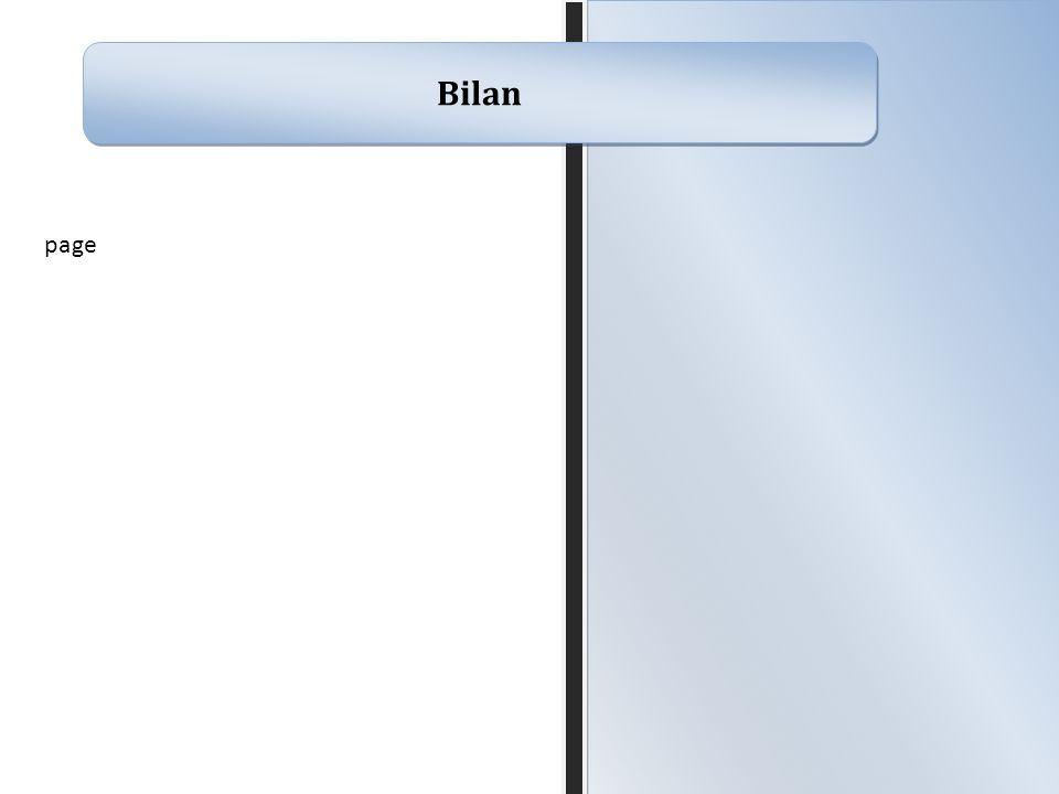 Bilan page