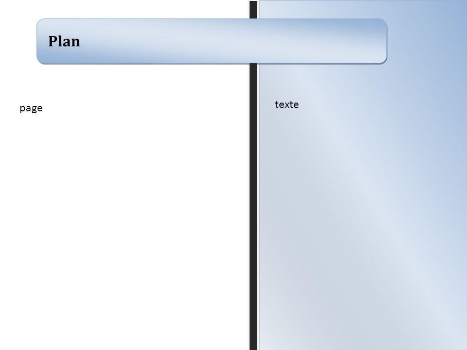 Plan page texte