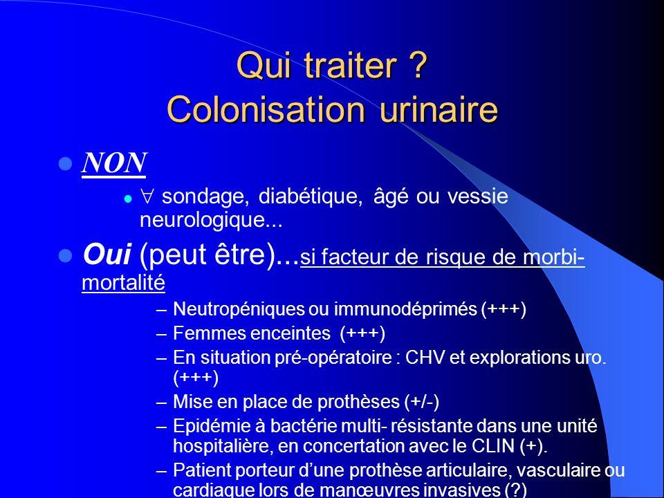 Qui traiter .Infection urinaire Toutes les infections urinaires justifient dun traitement.