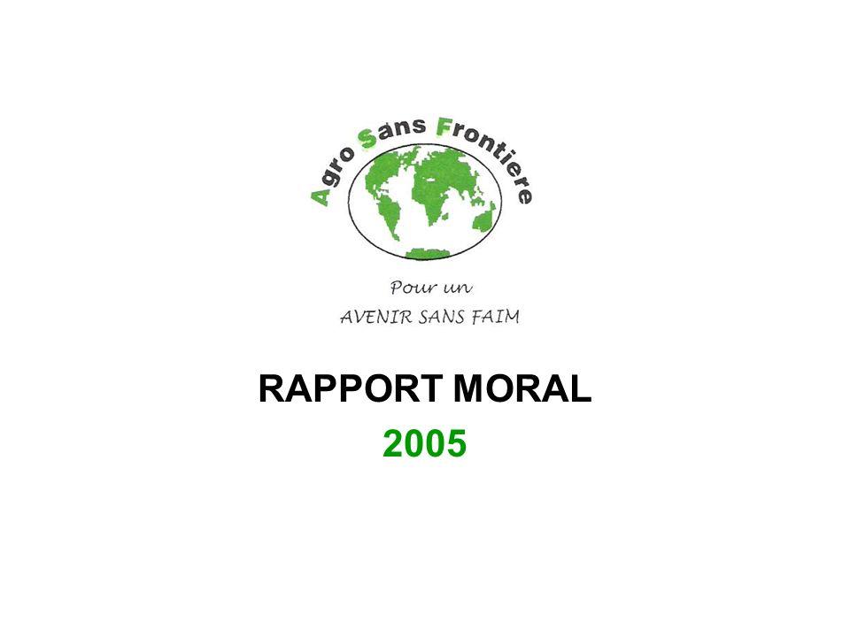 Création de la Délégation Régionale des Pays de la Loire Septembre 2004 Début dactivité Janvier 2005 4 Projets dans 4 Pays prioritaires Mali – Vietnam – Haïti – Sénégal Une Urgence….