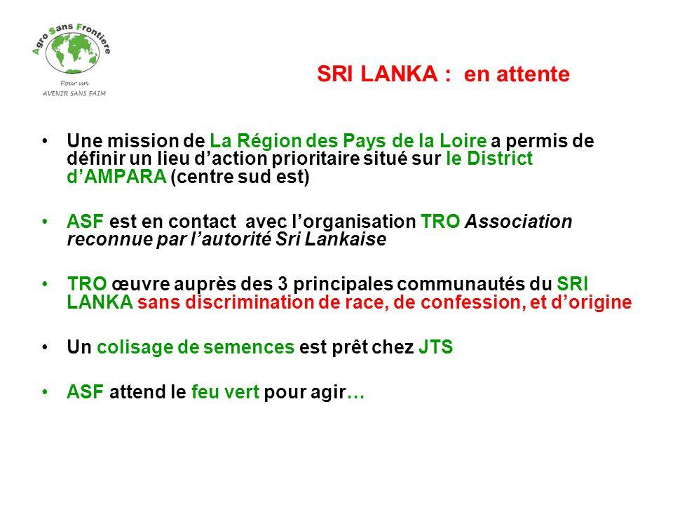 Une mission de La Région des Pays de la Loire a permis de définir un lieu daction prioritaire situé sur le District dAMPARA (centre sud est) ASF est e